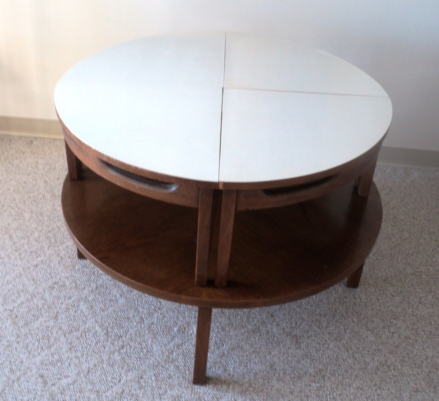 Mid century modern nesting coffee table for Modern nesting coffee tables