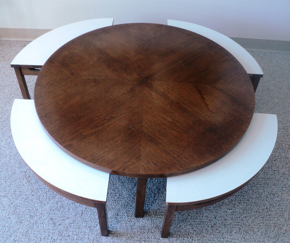 Contemporary Nesting Tables ~ Mid century modern nesting coffee table julesmoderne