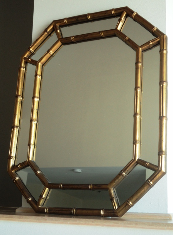 Hollywood Regency Faux Bamboo Gold Mirror Julesmoderne Com