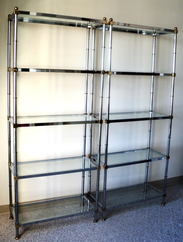 Pair of chrome bronze etageres - Etagere faite maison ...