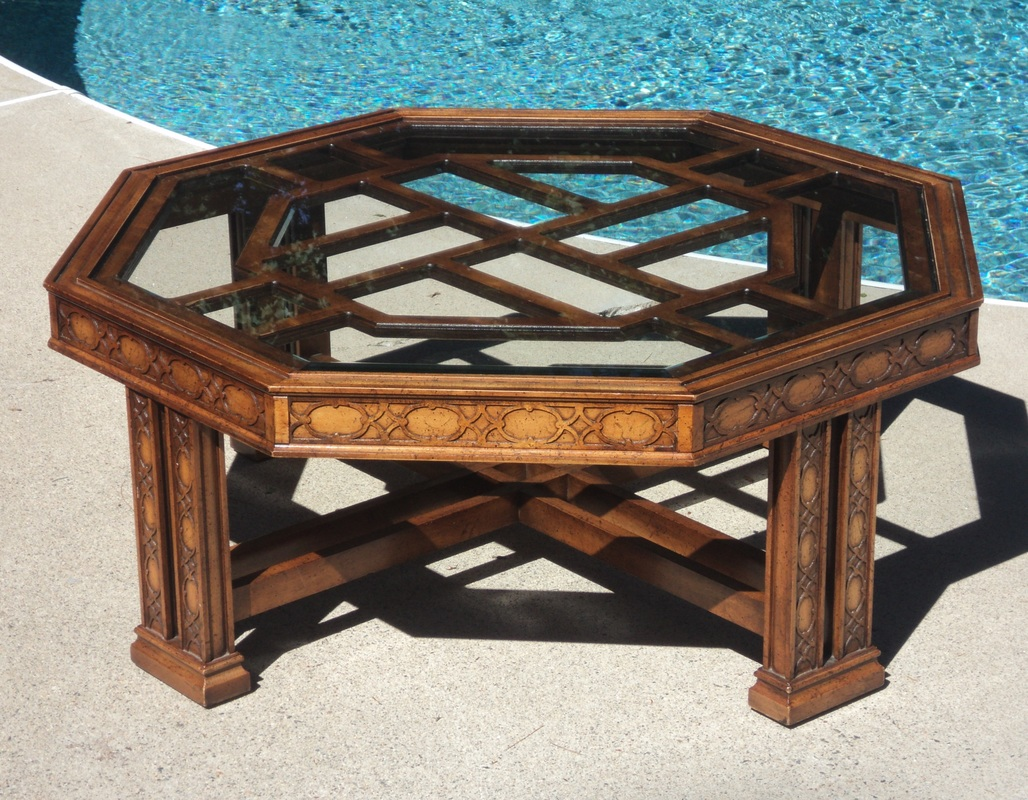 Octagonal Fretwork Coffee Table Julesmodernecom